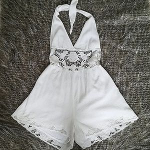 FREE PEOPLE white romper